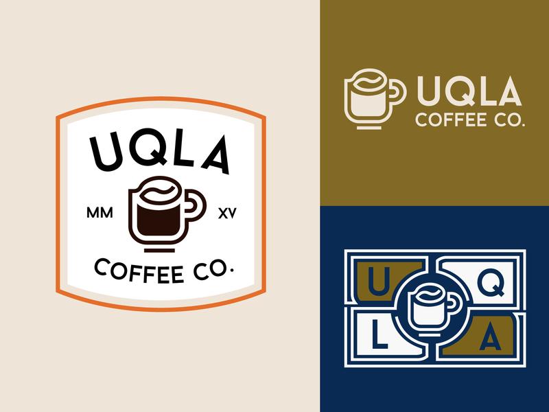UQLA Coffee Co. logo line coffee bean coffee badge patch