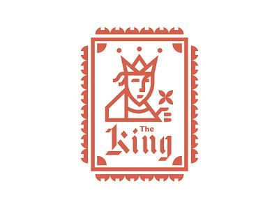 King design flower patch vector logo badge king