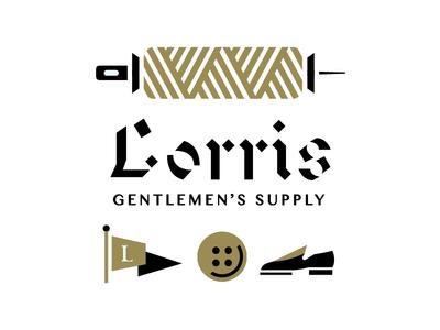 Lorris Gent Supply typography gentleman gentlemen flag shoes brand brand design branding design logo