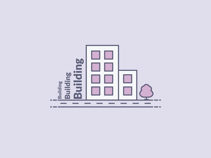 Building illustration illustration tree city town building