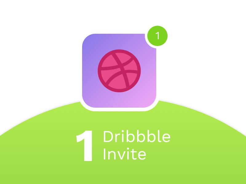 1 Dribbble Invite one dribbble invite