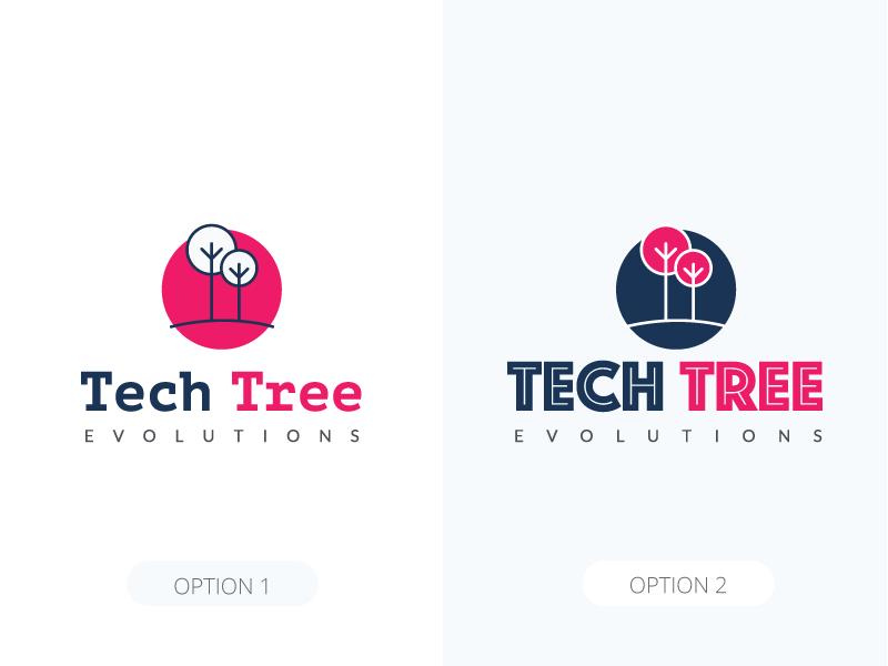 Tech Tree Logo logo design tree tech design icon illustration logo