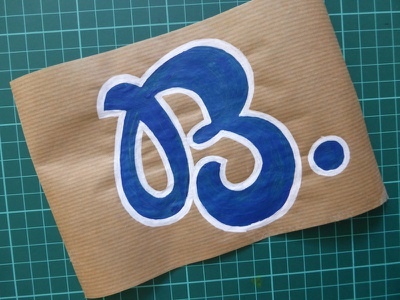 B craft painting paint letter b