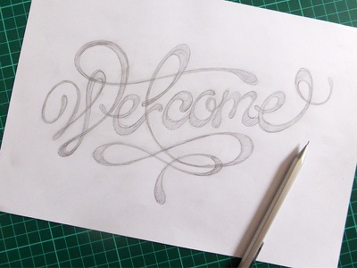 Welcome /WIP rough type welcome
