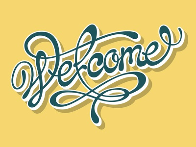 Welcome /vecto vecto typography type welcome