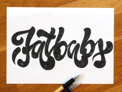 Fatbabs music lettering rough texture typo type fatbabs