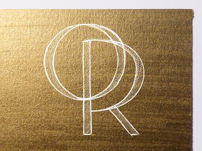 OR texture logo monogram gold or type