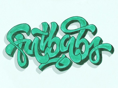 Fatbabs /reworks music green texture typo type fatbabs