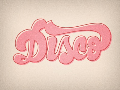 Disco lettering typography type pink disco