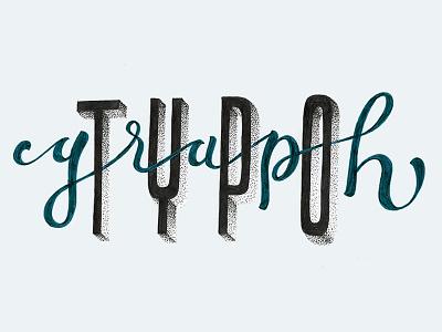 TypoGraph lettering typography typo