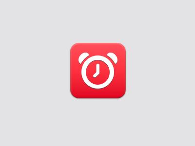 Clock Icon design icon app clock alarm clean simple ios iphone