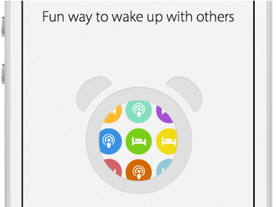 Wake App design app interface ui ux clean apple ios flat iphone clock alarm