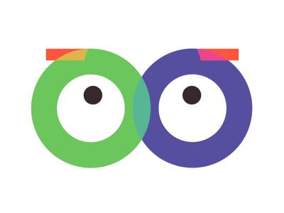 Eyes vector logo design