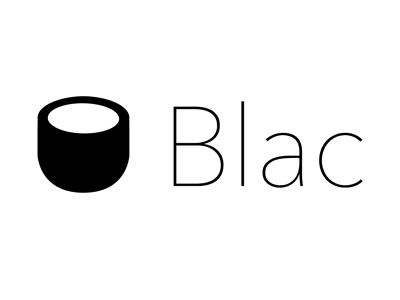 Cafe Blac Rebranding design icon logo typography branding minimal clean type cafe coffee cup