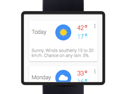 google smart watch - weather design app clean interface ui ux minimal android google mobile watch