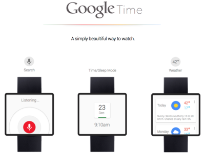 Google Time Project design app clean interface ui ux minimal android google mobile watch
