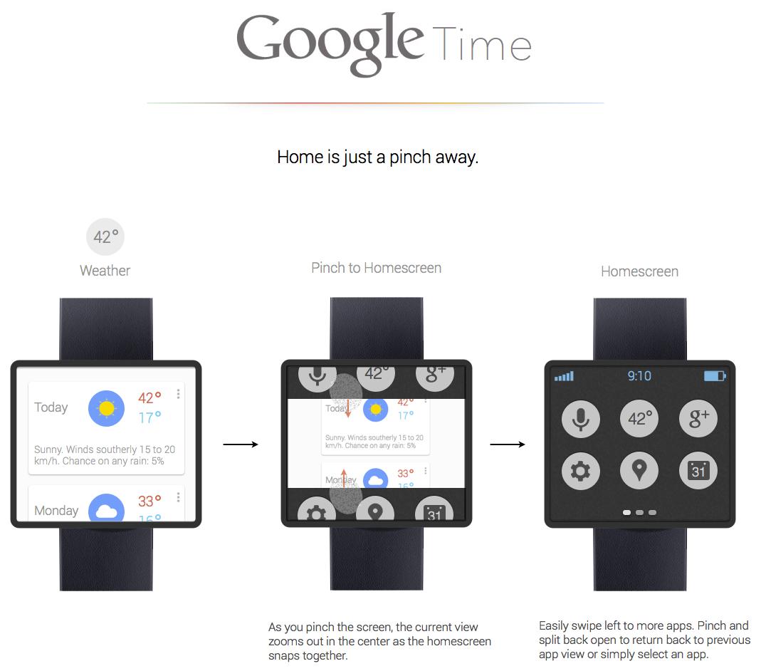 Google time nav