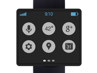 google smart watch homescreen design app clean interface ui ux minimal android google mobile watch