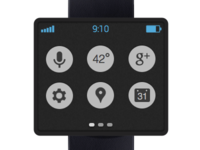 google smart watch homescreen
