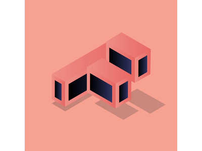 36daysoftype F box cube letter typography illustration gif motion loop animation 36daysoftype 36days