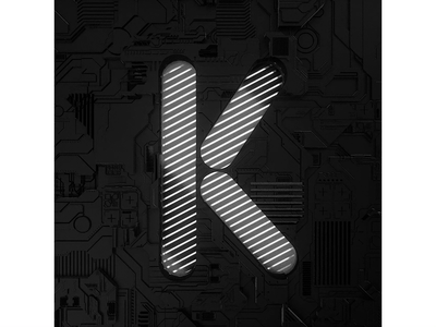 36days K typography logo cinema4d 3d 3d art loop design gif animation 36daysoftype 36days