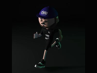 Adam running runner run 3d animation 3d character 3d art 3d loop motion illustration animation