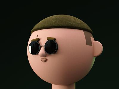 Radek 3d model character design character cinema4d 3d art 3d design motion animation illustration