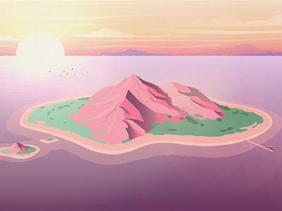Island islands island design animation illustration