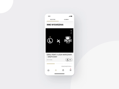 Legia Warsaw Mobile App - Events soccer football sport interaction user experience user interface transition app mobile app flat ux ui design mobile