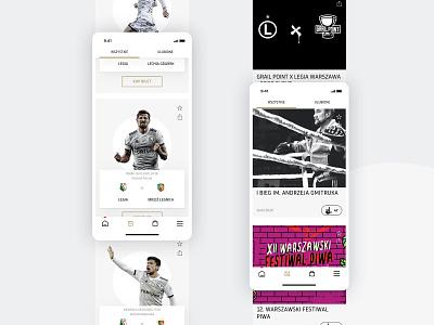 Legia Warsaw Mobile App - Events mobile app user inteface user experience sport football soccer ui ux design mobile app