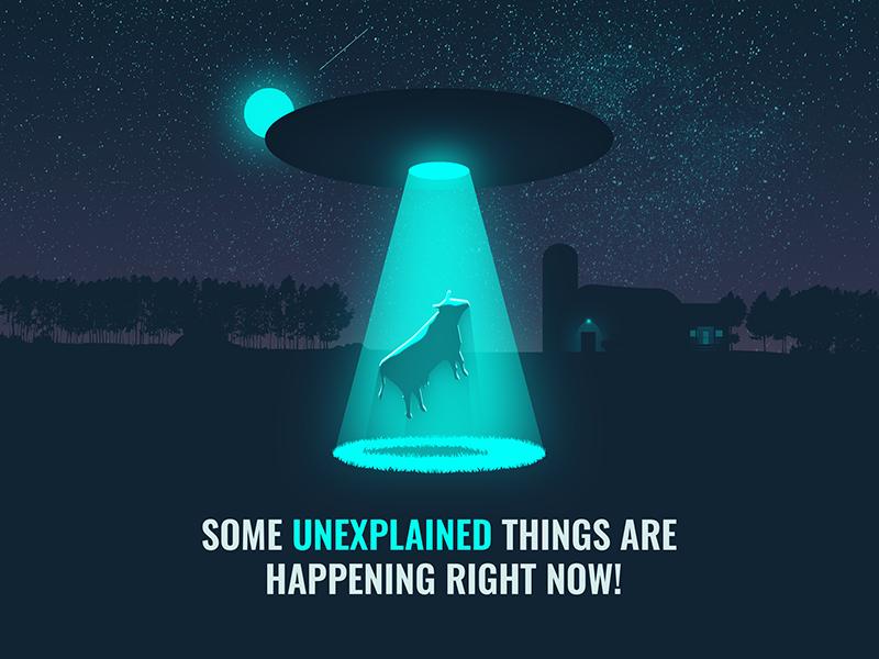 Server error empty state app  design error sever ufo cow screen mobile illustration desing