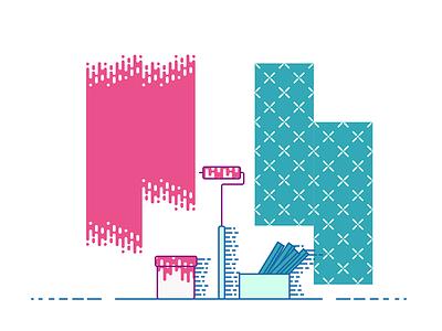 UI design mistake: No Consistency vector ui illustration flat article