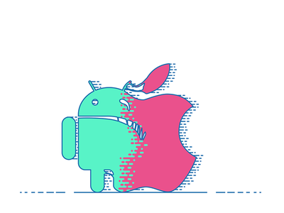 UI design mistake: Transferring From iOS To Android vector ui illustration flat article