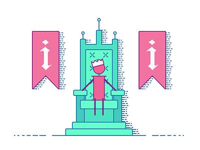 UI design mistake: Information Hierarchy vector ui illustration flat article