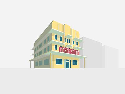 Dancr: Dance Studio dance dancing app vector illustration