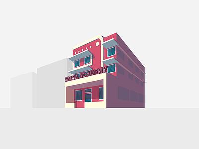 Dancr: Salsa Academy vector illustration dancing dance app