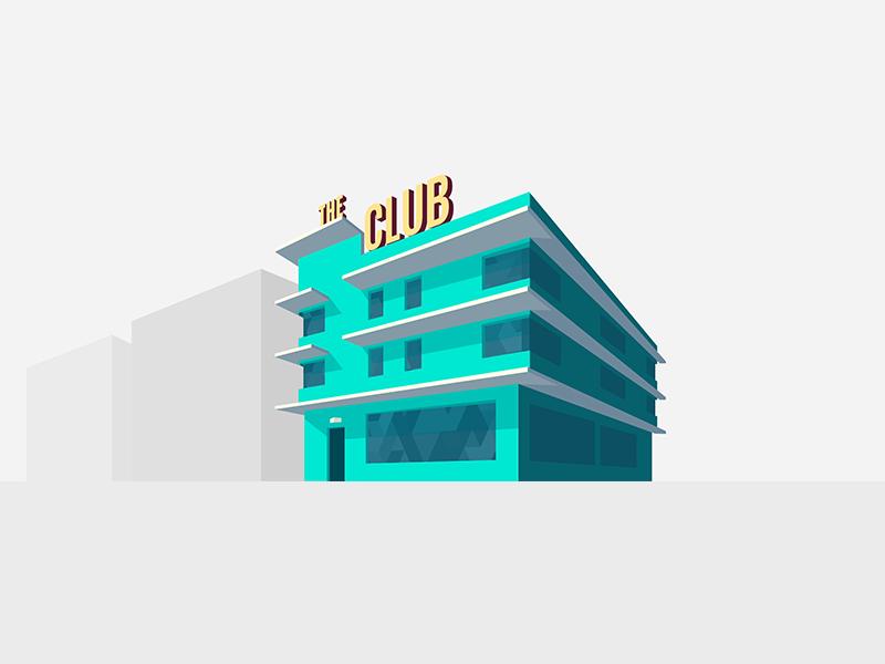 Dancr: The Club vector illustration dancing dance app