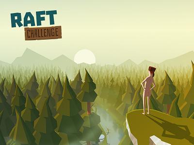 Raft Challenge challenge raft vector app illustration mobile game