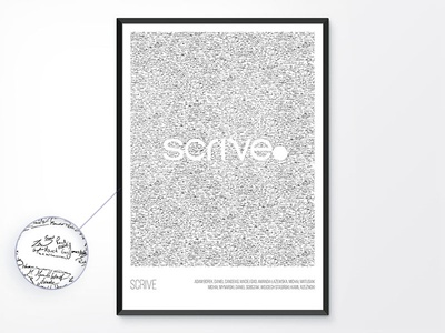 Posters: Scrive wallart signature fintech poster mobile design app