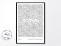 Posters: Scrive wallart signature fintech poster mobile design app