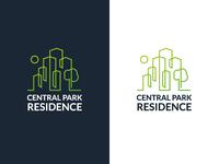 Central Park Residence logo design