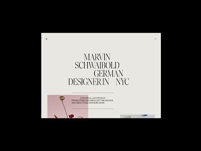 MS - Folio 2020 screendesign webdesign clean typography interface minimal website ui ux design