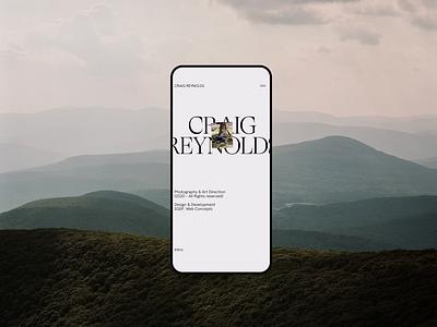 Craig Reynolds clean typography interface minimal website ux ui design