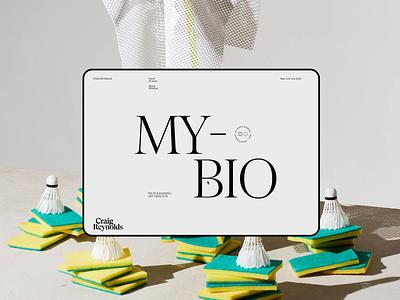 Craig Reynolds screendesign webdesign clean typography interface minimal website ui ux design
