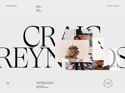 Craig Reynolds screendesign webdesign clean typography interface minimal website ux ui design