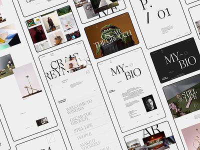 Craig Reynolds clean typography interface ui minimal website ux design