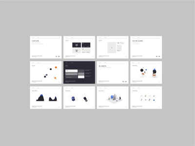 VC Swipe - Style Guide 3d typography interface minimal website ui ux design