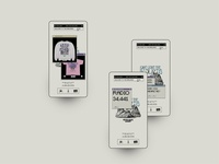 Don't visit Badlands landing screendesign webdesign typography interface minimal website ui ux design
