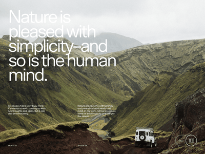 Gunnar Freyr screendesign webdesign typography interface website minimal design