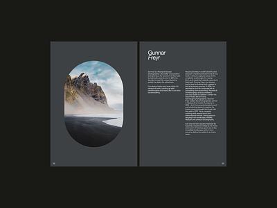 Gunnar Freyr - Analog Layouts typography minimal design